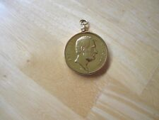 U.S. President Abraham Lincoln Gold Plated Pendant Medal in a Bezel