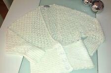 Heine  Strickjacke Cardigan Crochet-Strick   weiß  Gr.36  Neu