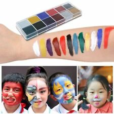 12 Colors Body Face Oil Painting Paint Pigment for Beauty Kit Makeup Cosmetic