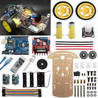 2WD Robot Car Kit UNO R3 iOS Android HM-10 Bluetooth4.0 L298N TP4056 for Arduino