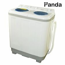 Panda Compact Portable Washing Machine (15 lbs Capacity) with Spinner PAN615SG