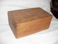 Vintage Oak Wood Library Index Recipe Card File Box Finger Joints Dovetailed