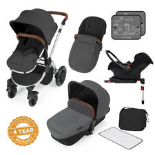 Ickle Bubba Stomp v3 All-in-1 Travel System Isofix Base -Graphite Grey on Silver