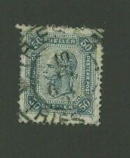 Austria 1901 50h Scott 81a used, Value = $11.00