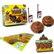 Double Remote Control Poo Challenge Game With Race Car Mat Drive Fart Twin Pack