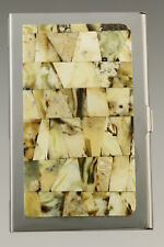 Genuine White BALTIC AMBER Mosaic Credit/Business Card CASE Holder 181002-23