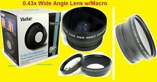 VIVITAR 0.43x WIDE ANGLE LENS With MACRO 62mm HD4 to NIKON CAMERA VIDEO