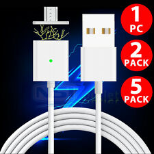 5X 2X 2.4A Micro USB Charging Cable Magnetic Adapter Charger For Android Samsung