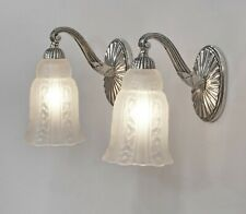 HETTIER &  VINCENT : pair of French 1930 art deco wall sconces #2 .. lamp France