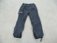 Rip Curl Pants Adult Large Gray Purple Cargo Windbreaker Surfer Casual Mens A01*