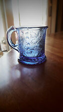 "EAPG - US Glass - ""Wee Branches"" transparent blue child's mug"