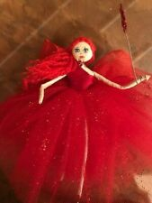 OOAK pretty little red haired fairy doll,custom made,approx 16cm tall
