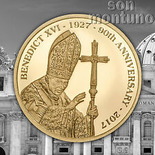 POPE BENEDICT XVI - 1/100 OZ 24k Gold Proof-like Coin 11mm 2017 COOK ISLANDS $5