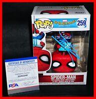 🔥 RARE Tom Holland Signed Autographed Spider-Man Homecoming 259 Funko POP PSA