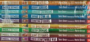 Pack of 18 Horrible Histories Books by Terry Deary