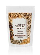 L-Arginine Amino Acid 500mg 7-30-60-90-120-180-250 Hardgel Capsules
