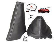Gear & Handbrake Gaiter For Mazda MX5 Roadster ND 2014-18 White Stitching