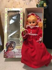 Vintage Rare Red Angelina Doll Sings & Talks W/ Box TM Toys 16.5""