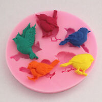 Birds Silikon Form Fondant Mould Marzipan Tortendeko Mould Ausstecher Küche Tool