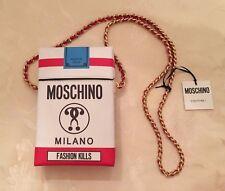 $850 FW16 Moschino Couture JEREMY SCOTT Fashion Kills Cigarette Box Leather Bag