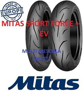 Coppia GOMME 120/70 ZR17 58W 180/55 ZR17 73W MITAS SPORT FORCE + EV DOT 2021