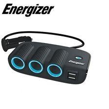 Energizer Vehicle Triple Socket Adaptor & Twin USB - 12V