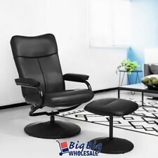 Leather Lounge Recliner Chair Swivel Leisure Seat w/ Ottoman Footrest Stool
