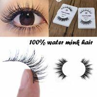 Natural Cross Handmade 100% Real Mink Hair Eyelash Extension False Eyelashes