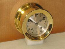 "Chelsea Vintage Ships Bell Clock~4 1/2""Dial~1952~Korean War~Restored"