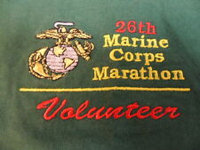 2001 Marine Corps Marathon Volunteer Short Sleeve Shirt Green MCM