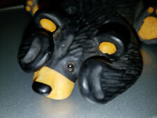 """BearFoots """"Ruby"""" Resin Bear Signed and Numbered by Montana Artist Jeff Fleming"""