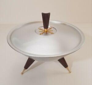 Mirro Medallion Satellite Atomic Starburst Candy Dish 1958