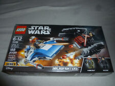 New Lego Star Wars Set A-Wing Vs Tie Silencer Microfighters 75196 Kylo Ren Nib >