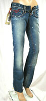 Jeans Donna Pantaloni MET Made in Italy Vita Bassa Gamba Dritta Blu C517 Tg 25