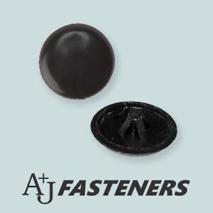 BLACK POZI PLASTIC SCREW CAP COVERS PUSH FIT PLUSTOP FOR 6G & 8G SCREWS