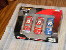 Ken Schrader-2006 WOODS BROS. 3 car 1/64 NASCAR set.