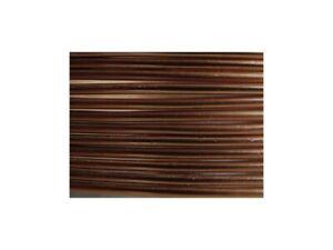 2 Mètres fil aluminium chocolat mat 2mm