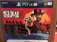 Brand New PlayStation 4 PS4 Pro 1TB Red Dead Redemption 2 Bundle