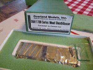 OVERLAND MODELS D&H 1700 series Wood Sheath Boxcar HO SCALE