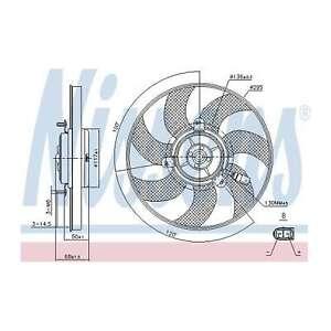 Fits VW Golf MK5 2.0 GTI Genuine Nissens Engine Cooling Right Radiator Fan