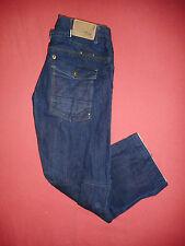 G-Star Raw 3301 W34 L31 Herren Blau Denim Jeans Elwood Handarbeit B173