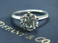 Tiffany & Co Platinum Round Cut Diamond Solitaire Engagement Ring 2.32Ct I-VS2