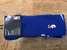 Nike Elite rápido baloncesto de la NBA Crew Socks Rush Azul SX7037-495 UK11-14.5 Nuevo