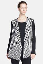 73144c0df2798 ST. JOHN – Gorgeous Black White Houndstooth Cardigan Jacket - Size M
