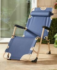 Foldable Leisure Chair Poolside Camping Patio Beach Lake Patio Outdoor Cabin