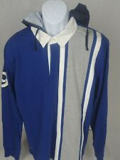 Nautica Jean Company LS Polo Shirt WITH BUTTONED SAILING DETACHABLE HOOD XL