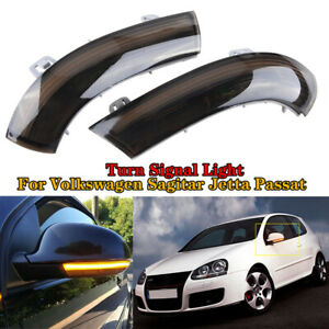Pair Dynamic LED Turn Signal Light Mirror Lamp For VW Golf 5 Jetta MK5 Passat B6