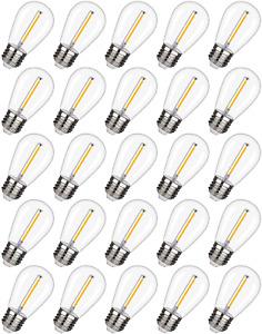 Replacement LED Light Bulbs Shatterproof Outdoor Waterproof String Lights 25 Pk