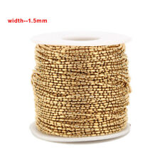 5meters Gold Tone Stainless Steel Ball Chain for DIY Jewelry Making Accessories