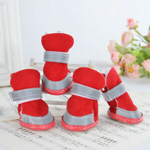 Warm Winter Pet Dog Boots Puppy Shoes Protective Anti-slip Shoes for Small Dog